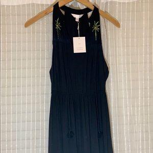 Lauren Conrad Black Racerback Maxi Dress.